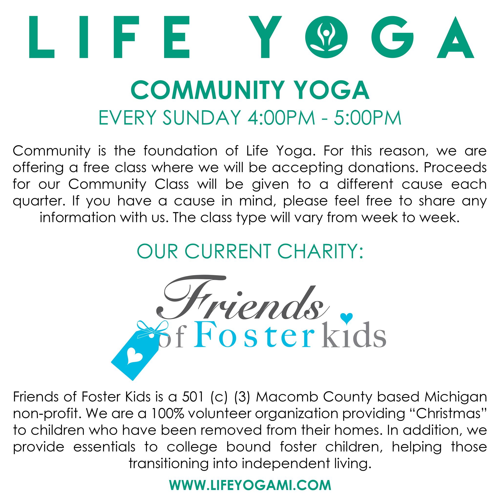 e034b8f110f Life Yoga Community Classes Benefiting Friends of Foster Kids ...