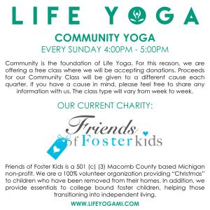 Life Yoga Community Yoga Classes